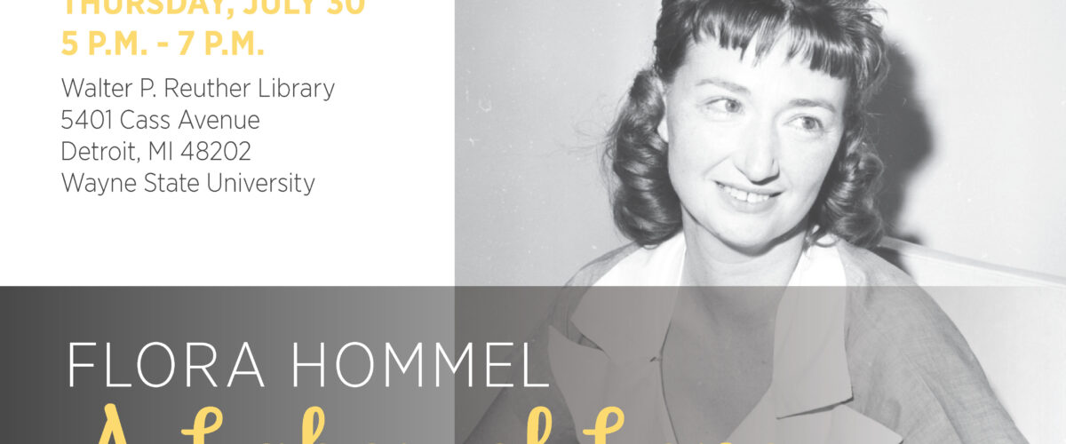 A Celebration of the Life and Work of Flora Hommel